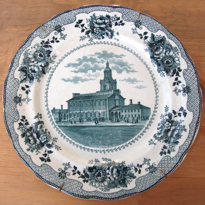 Commemorative plate of Independence Hall
